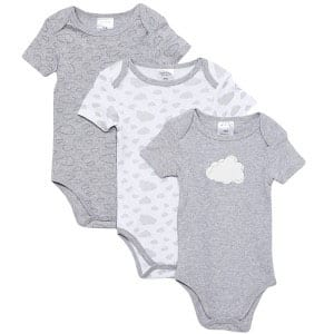 Giraffe-&-Elephant-Bodysuit-(Gray)-1-pc