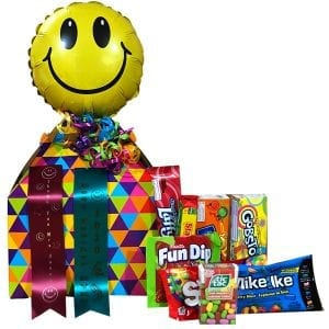 Teacher Candy Gift Box-filled with gluten free and nut free products.