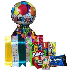 Graduation Candy Gift Box-filled with gluten free and nut free products.