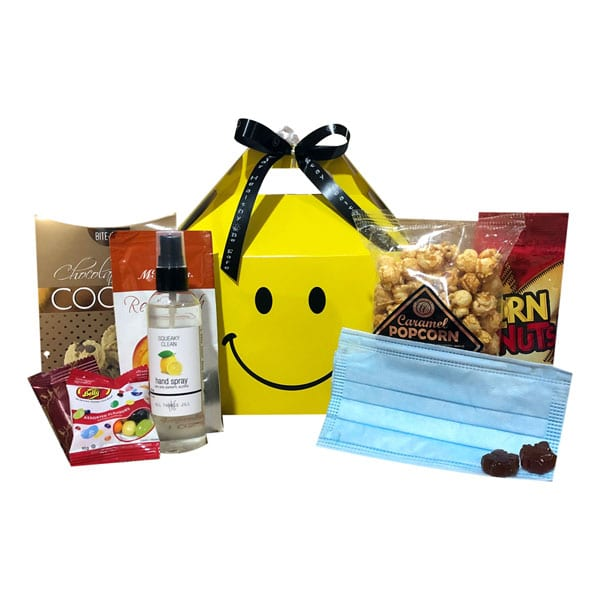Stay Safe Gift Box with masks, hand sanitizer and treats!