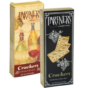 Partners Olive Oil & Sea Salt Crackers Small Pk 21g-0.74oz-each