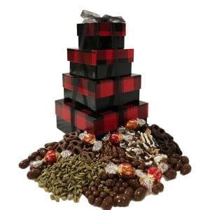Chocolate Decadence Tower-filled with premium, decadent chocolates they will love!