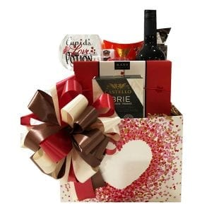 Romance Gift Baskets-with wine, chocolates, smoked salmon and more