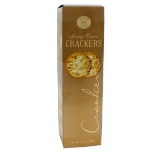 Comfort Collection Spring Onion Crackers Gold 150g-5.3oz