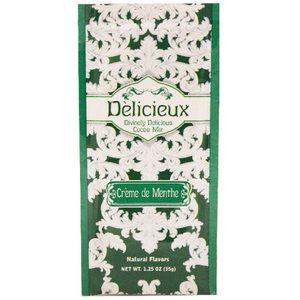 Delicieux Cocoa Mix Creme De Menthe 1.25 oz-35g